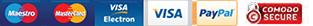Pay by Mastercard, Visa and PayPal
